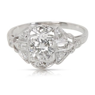 Pre-Owned Vintage Diamond Engagement Ring in Platinum (0.60 CTW)