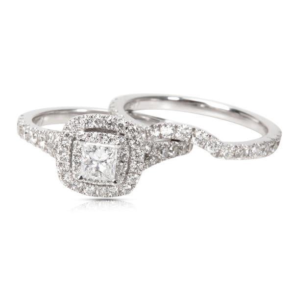 Pre Owned Neil Lane Diamond Engagement Wedding Set In 14k White Gold 1 40 Ctw Overstock 23056133
