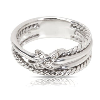 Pre-Owned David Yurman X Collection Diamond Ring in Sterling Silver