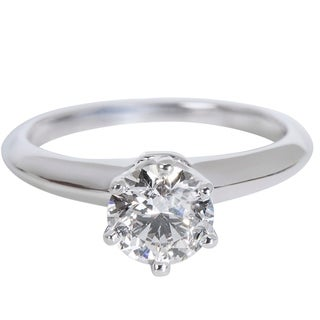 Pre-Owned Tiffany & Co. Solitaire Diamond Engagement Ring in Platinum (0.82 CTW)