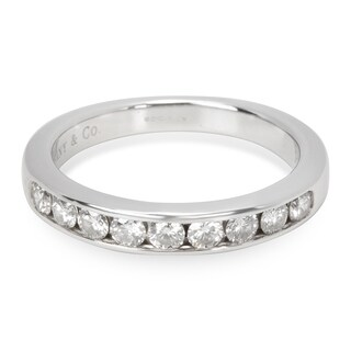 Pre-Owned Tiffany & Co. Channel Set Diamond Band in Platinum 0.45 ctw
