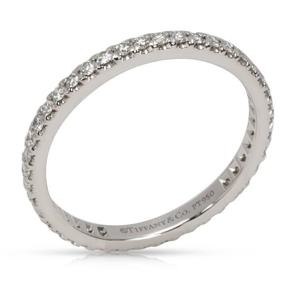 57aa9aad3b5fd Shop Pre-Owned Tiffany & Co. Soleste Diamond Eternity Band in ...