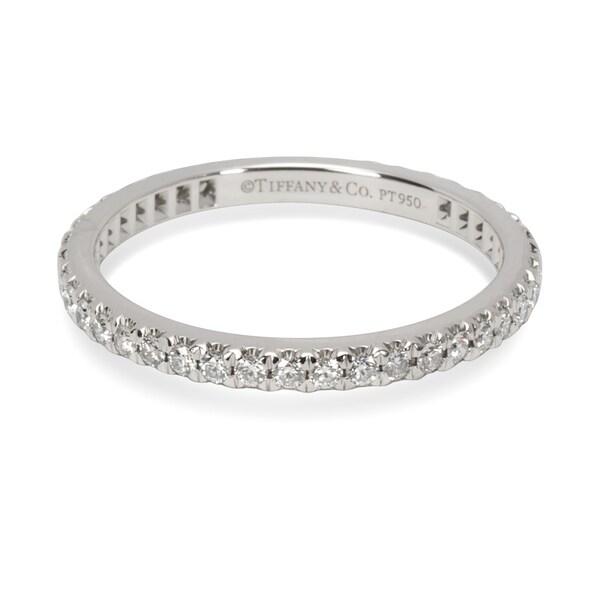 99525b8036b Pre-Owned Tiffany  amp  Co. Soleste Diamond Eternity Band in Platinum
