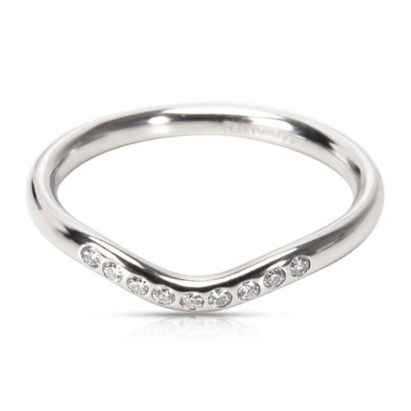 Pre Owned Tiffany Co Elsa Peretti Wedding Band In Platinum