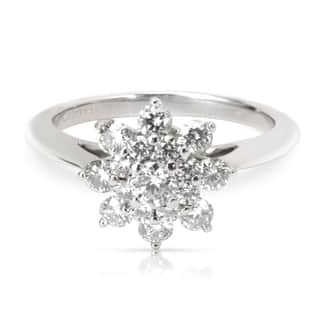 Pre-Owned Tiffany & Co. Diamond Flower Ring in Platinum (0.60 CTW)
