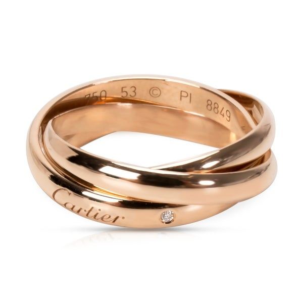 e85bcf0a0a Shop Pre-Owned Cartier Trinity de Cartier Ring in 18K Rose Gold - Free  Shipping Today - Overstock - 23056164