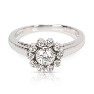 Pre-Owned Tiffany & Co. Diamond Daisy Ring in Platinum (0.35 CTW)