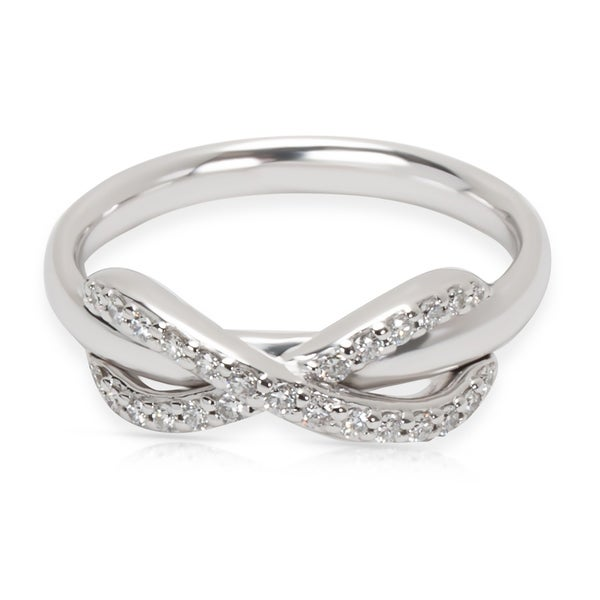 1422bb571 Shop Pre-Owned Tiffany & Co. Diamond Infinity Ring in 18K White Gold ...