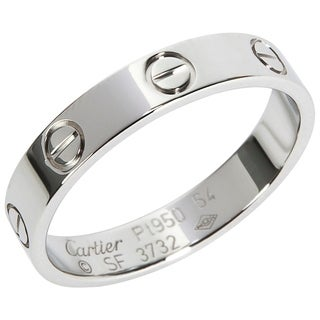 Pre-Owned Cartier Love Ring in Platinum Size 7