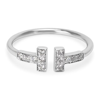 Pre-Owned Tiffany & Co. T Diamond Ring in 18K White Gold