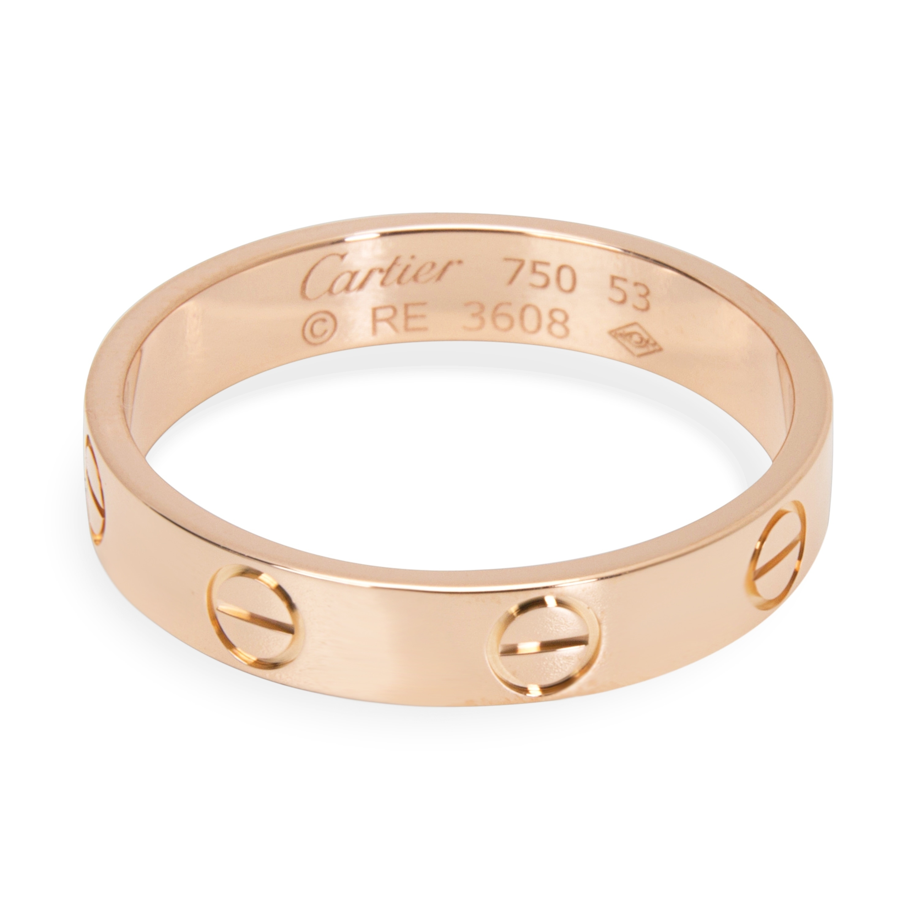 Pre-Owned Cartier Love Ring in 18KT Rose Gold 4mm