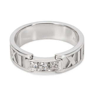 Pre-Owned Tiffany & Co. Diamond Atlas Ring in 18KT White Gold