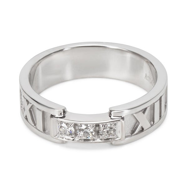 aaca22084 Shop Pre-Owned Tiffany & Co. Diamond Atlas Ring in 18KT White Gold ...