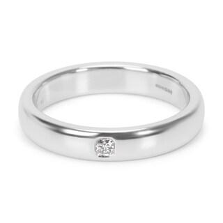 Pre-Owned Tiffany & Co. Platinum Classic Lucida Wedding Ring in Platinum 0.03 ctw