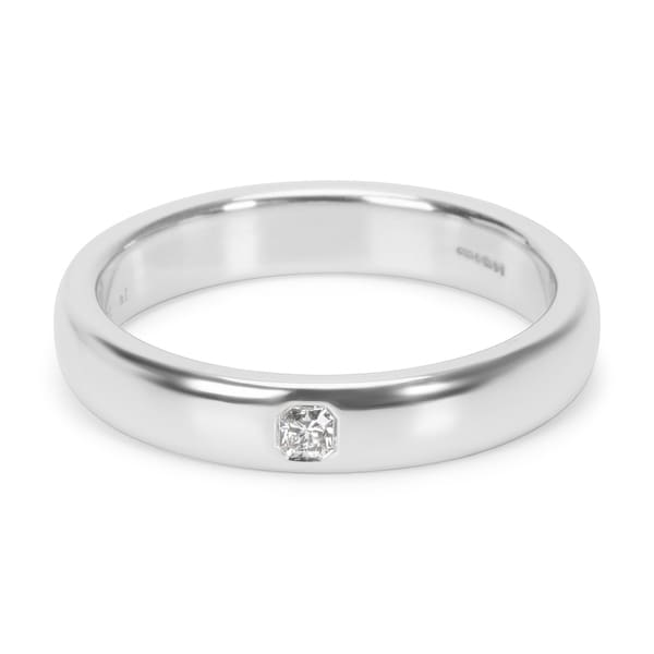 89a308275 Pre-Owned Tiffany & Co. Platinum Classic Lucida Wedding Ring in Platinum  0.03