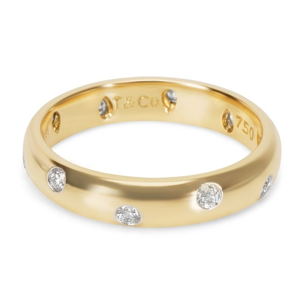a176cc9a6 Pre-Owned Tiffany & Co. Etoile Diamond Ring in 18K Gold &