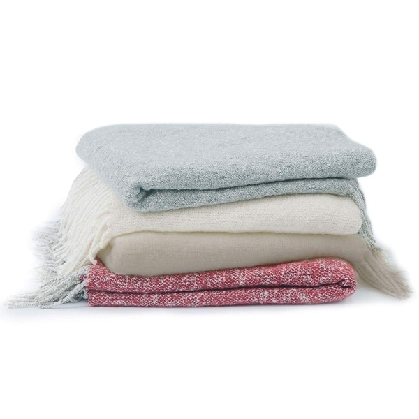 Cheer Collection Ultra Soft Knit Fringe Throw Blanket. Opens flyout.