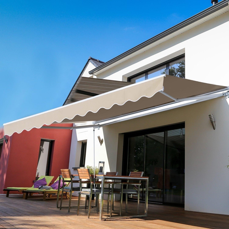 Patio, Lawn & Garden Awnings ghdonat.com Beige Outsunny 10 x 8.2 ...