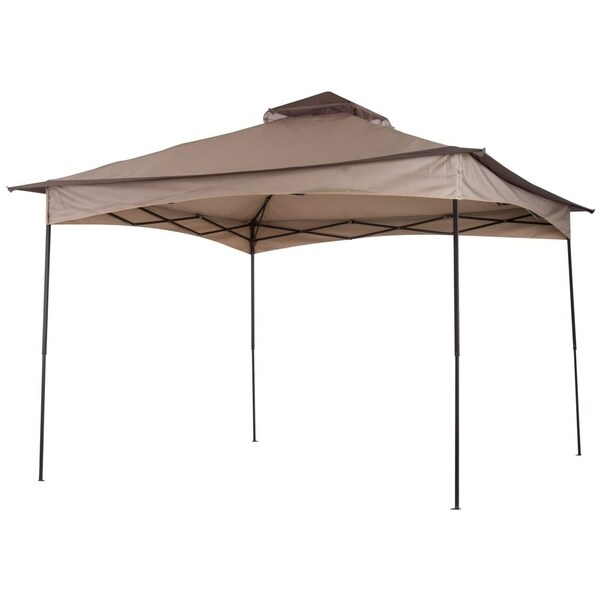 Outsunny 11 x 11 Outdoor 2-Tier Top Folding Portable Pop Up Gazebo with Zippered Netting