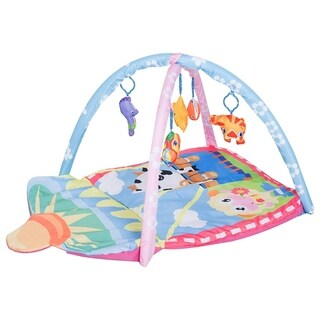 "Qaba 36"" x 26"" Kids Baby Toddler Play Gym Activity Center Creeping Mat - Farm Animals"