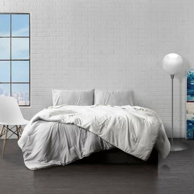 Ella Jayne Home Collection Reversible Brushed Microfiber Plush Down-Alt Comforter 3 Piece Set