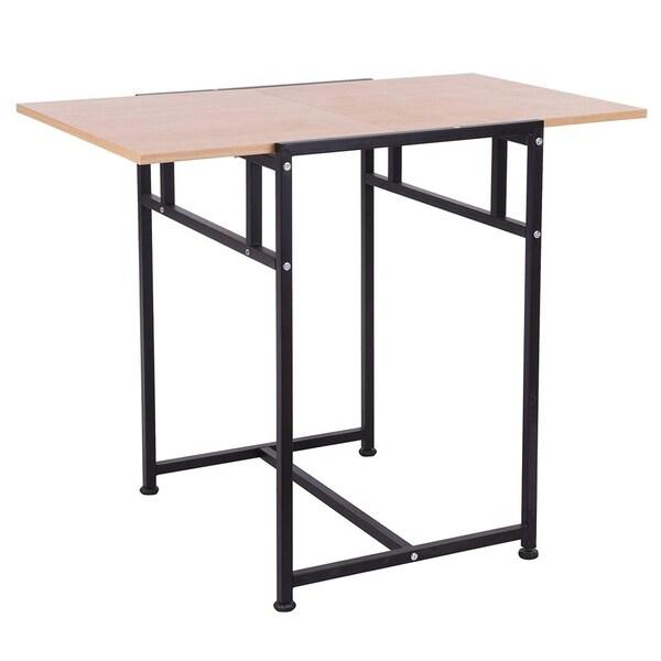 Shop Homcom 36 Quot Versatile Wood Top Drop Leaf Office