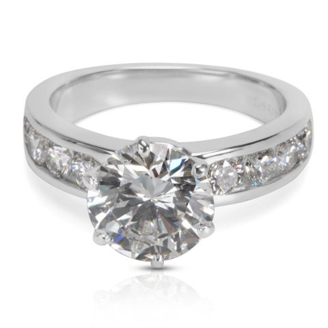 Pre-Owned Tiffany & Co. Diamond Engagement Ring in Platinum (2.86 CTW)