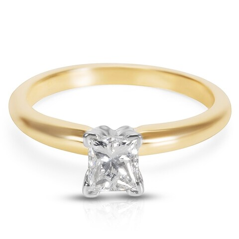 Pre-Owned IGL Certified Diamond Engagement Ring in 18k Yellow Gold & Platinum (0.55 CTW)
