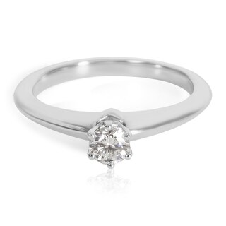 Pre-Owned Tiffany & Co. Diamond Solitaire Engagement Ring in Platinum (0.21 CTW)