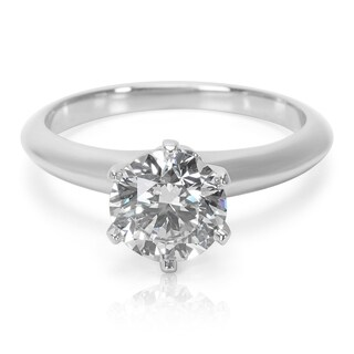 Pre-Owned Tiffany & Co. Solitaire Ring in Platinum with Diamonds GIA Certified 1.17 CT