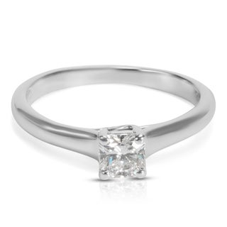 Pre-Owned Tiffany & Co. Lucida Diamond Engagement Ring in Platinum (0.32 CTW)