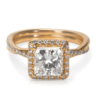 Pre-Owned Tiffany & Co Elsa Peretti Diamond Ring in Platinum (0.02 CTW)