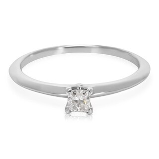 Pre-Owned Tiffany & Co. Princess Diamond Engagement Ring in Platinum G VVS1 (0.19 ctw)