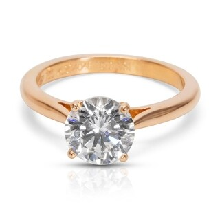 Pre-Owned GIA Certified Cartier Diamond Solitaire Engagement Ring in Rose Gold (1.51 CT)