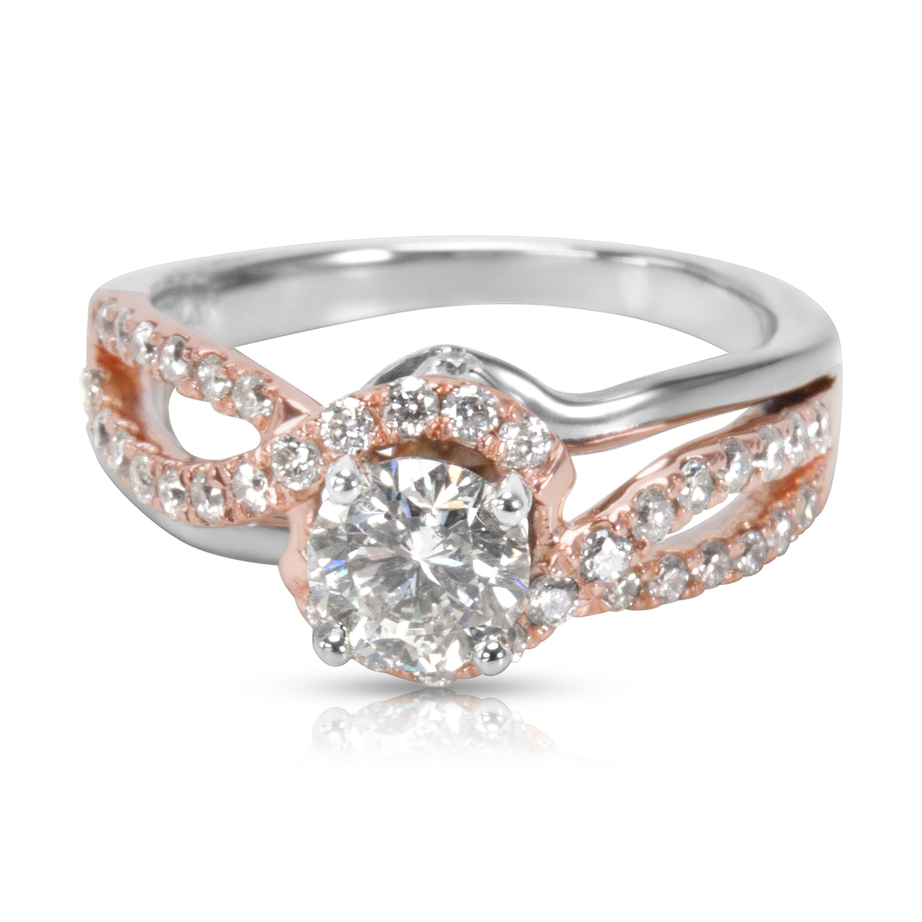 Shop Pre Owned Kay Jewelers Diamond Engagement Ring In Two Toned Gold 1 00 Ctw Overstock 23056494