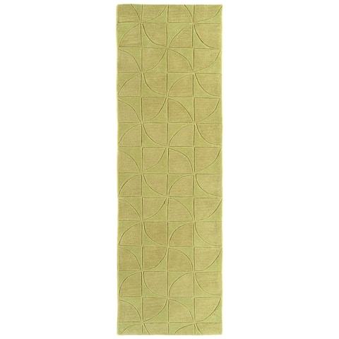 "Rachael Ray Soho SOH02-28 Yellow Polyacrylic Rug by Kaleen - 2'6"" x 8'"