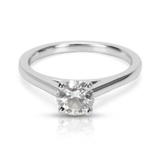 Pre-Owned De Beers Diamond Engagement Ring in Platinum F VS1 (0.55ctw)