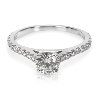 Pre-Owned James Allen GIA Certified Diamond Engagement Ring in 14K White Gold (0.87 CTW) - Size 5.75