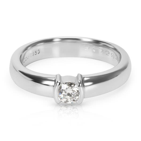 8d1905748 Pre-Owned Tiffany & Co. Diamond Engagement Ring in Platinum (0.19 CTW)