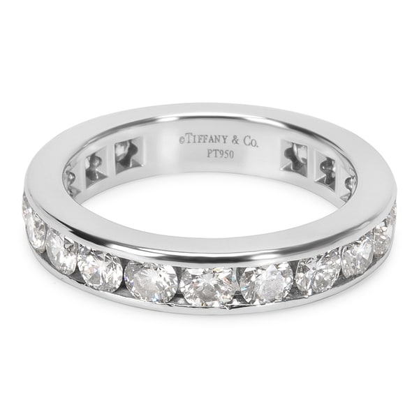 60205221b Shop Pre-Owned Tiffany & Co. Diamond Eternity Band in Platinum 1.80 ...