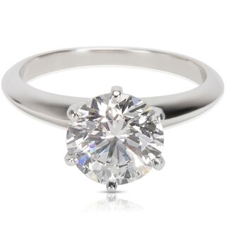 Pre-Owned Tiffany & Co. Diamond Solitaire Engagement Ring in Platinum (2.02 CTW)
