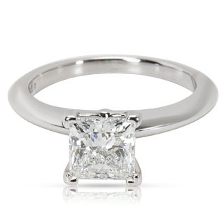Pre-Owned Tiffany & Co. Diamond Princess Cut Engagement Ring in Platinum (0.91 CTW)
