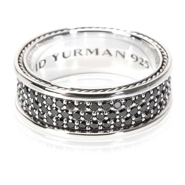 af9c64cef3614 Shop Pre-Owned David Yurman Streamline Three Row Black Diamond Ring in  Sterling Silver 1.84ctw - Free Shipping Today - Overstock - 23056565