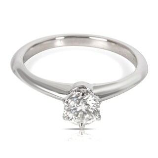 Pre-Owned Tiffany & Co Diamond Engagement Ring in Platinum 0.39 ct F/VVS2