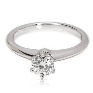 Pre-Owned Tiffany & Co. Diamond Solitaire Ring in Platinum (0.44 CTW)