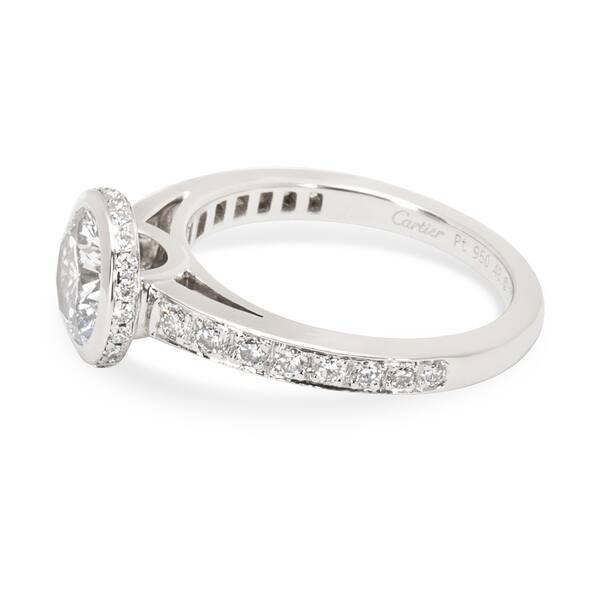 2c0613d6d4538 Shop Pre-Owned Cartier Diamond Engagement Ring in Platinum 1.01 E ...
