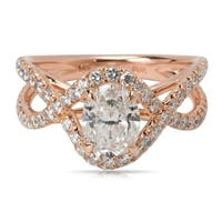 Pre-Owned James Allen Oval Diamond Engagement Ring in 14K Rose Gold (2.65 CTW)