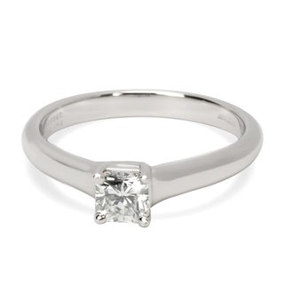 Pre-Owned Tiffany & Co. Lucida Cut Solitaire Ring in Platinum 0.37 ctw H VVS2