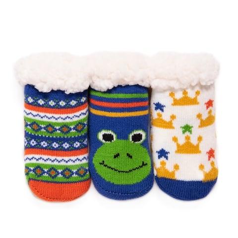 MUK LUKS® Baby's 3-Pack Cabin Socks
