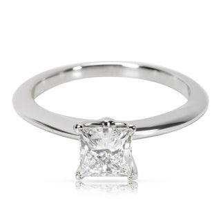 Pre-Owned Tiffany & Co. Diamond Princess Cut Engagement Ring in Platinum